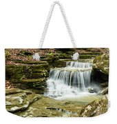 Cascading Into The Pool Weekender Tote Bag