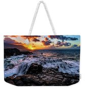 Cascading Water At Sunset Weekender Tote Bag by John Hight