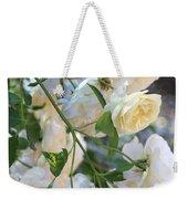 Cascading White Roses Weekender Tote Bag