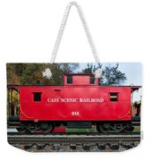 Cass Red Caboose Weekender Tote Bag