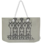 Cast Iron Fence Weekender Tote Bag