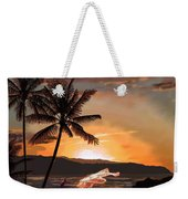 Casting Net At Sunset Weekender Tote Bag