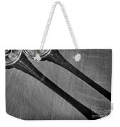 Casting Shadows Black And White Weekender Tote Bag
