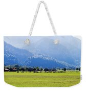 Castle And Cattle Weekender Tote Bag