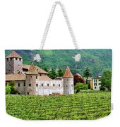 Castle And Vineyard In Italy Weekender Tote Bag