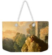 Castle And Waterfall Weekender Tote Bag
