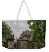 Castle Behind Cemetery Weekender Tote Bag