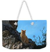 Castle Cat Weekender Tote Bag