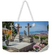 Castle Hill Graves Overlooking Nice, France Weekender Tote Bag