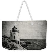 Castle Hill In Black And White Weekender Tote Bag