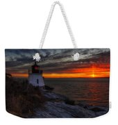 Castle Hill Lighthouse Sunset Weekender Tote Bag