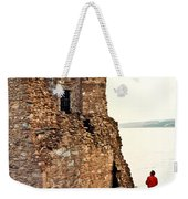 Castle Ruins On The Seashore In Ireland Weekender Tote Bag