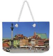 Castle Square And Sigismund's Column Warsaw Poland Weekender Tote Bag