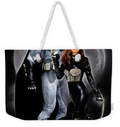 Cat And Bat Weekender Tote Bag