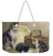 Cat And Kittens Weekender Tote Bag