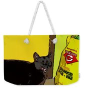 Cat And Rice Weekender Tote Bag