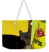Cat And Rice Weekender Tote Bag