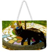 Cat And Table Weekender Tote Bag