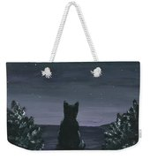 Cat And The Stars Weekender Tote Bag