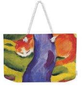 Cat Behind A Tree Weekender Tote Bag
