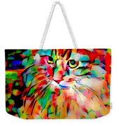 Cat By Fauvism Weekender Tote Bag
