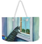 Cat By The Window Weekender Tote Bag