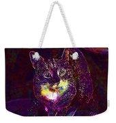 Cat Contemporary Design Brown  Weekender Tote Bag