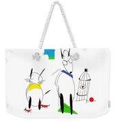 Cat, Dog, Hydrant Weekender Tote Bag