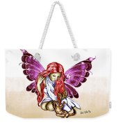 Cat Fairy In Purple  Weekender Tote Bag