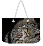 Cat Fight Weekender Tote Bag