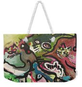 Cat Fight Weekender Tote Bag