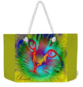 Cat Fluorescent Weekender Tote Bag