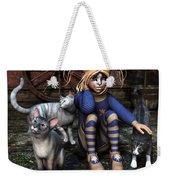 Cat Girl Weekender Tote Bag