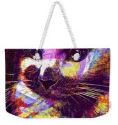 Cat Head Face Macro Close Up  Weekender Tote Bag