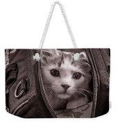 Cat In A Bag Weekender Tote Bag