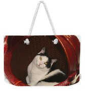 Cat In A Basket Weekender Tote Bag