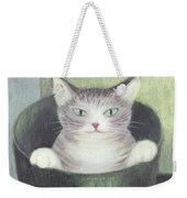 Cat In A Bucket Weekender Tote Bag