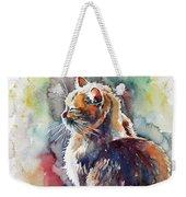 Cat In Backlight Weekender Tote Bag