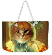 Cat In Bonnet Weekender Tote Bag