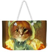 Cat In Bonnet Weekender Tote Bag