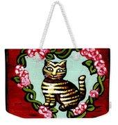 Cat In Heart Wreath 2 Weekender Tote Bag
