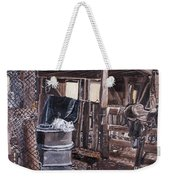 Cat In The Barn Weekender Tote Bag