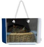 Cat In The Window Weekender Tote Bag