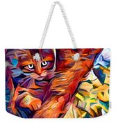 Cat In Tree Weekender Tote Bag