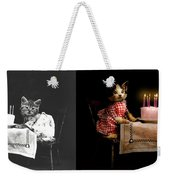 Cat - It's Our Birthday - 1914 - Side By Side Weekender Tote Bag