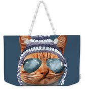 Cat Kitty Kitten In Clothes Aviators Toque Beanie Weekender Tote Bag