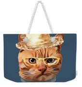 Cat Kitty Kitten In Clothes Yellow Glasses Straw Weekender Tote Bag