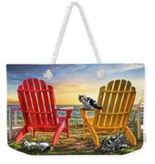 Cat Nap At The Beach Weekender Tote Bag by Debra and Dave Vanderlaan