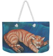 Cat Napping Weekender Tote Bag