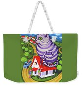 Cat On A Red Tin Roof Weekender Tote Bag
